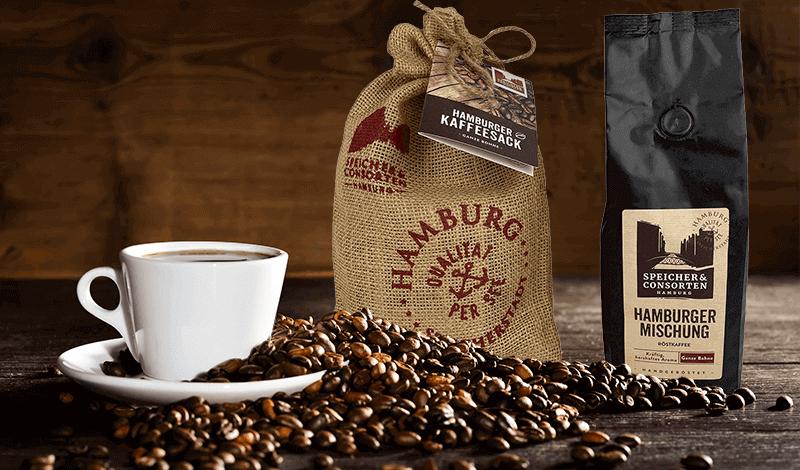 Kaffee Geschenk: Speicher & Consorten Hamburger Mischung im Seesack