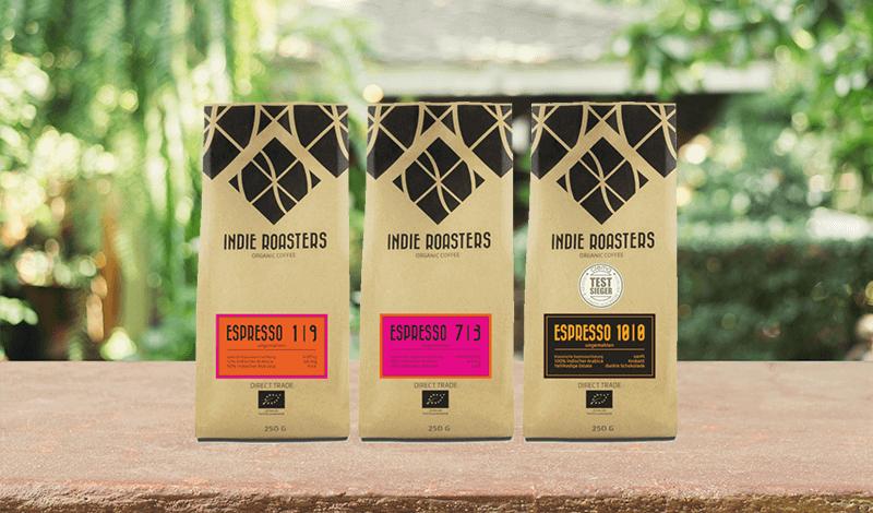 Indie Roasters Espresso Probierset als Geschenk