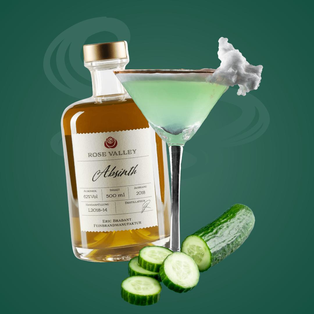 Grüner wird's nicht: Der Green Beast Cocktail mit Absinth
