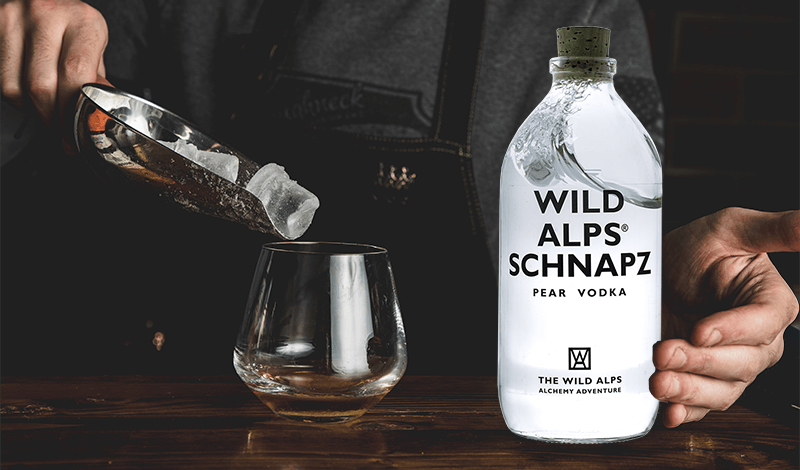 Wild Alps Schnapz Birnen Vodka verschenken