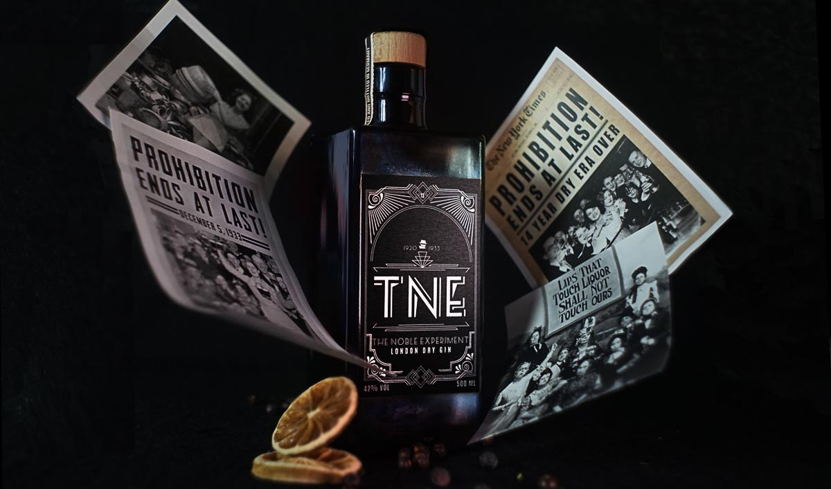TNE The Noble Experiment - London Dry Gin Beauty Shot