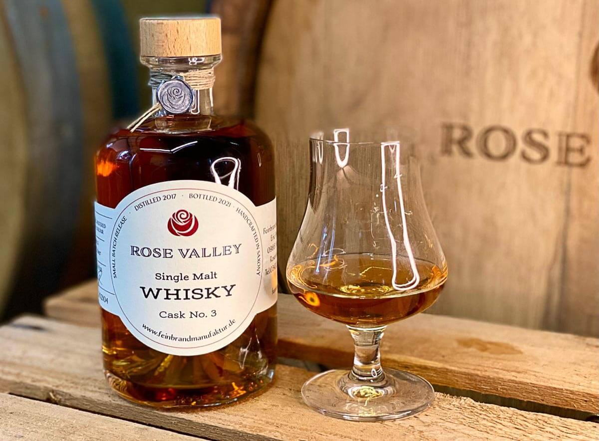 Rose Valley Whisky Single Malt Cask No. 3 Beauty Shot