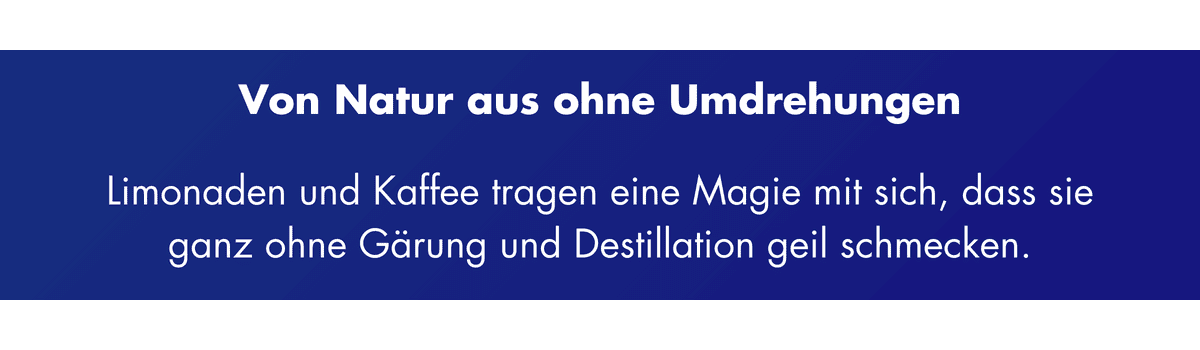 Dry January - Kaffee und Limonaden