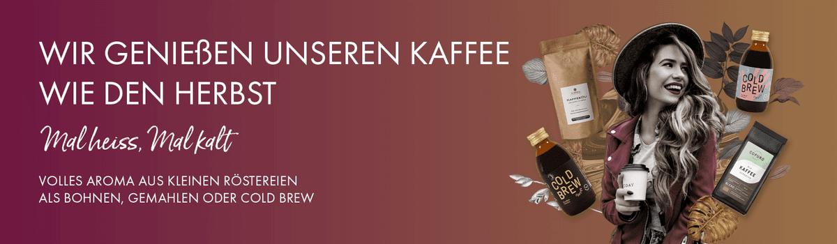 Kaffee im Herbst - mal heiß, mal kalt