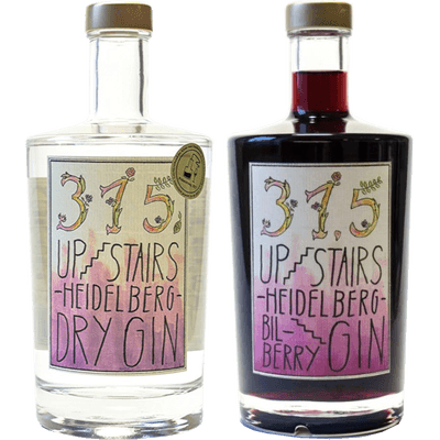Heidelberger Heidelbeer Ginpaket - 2x Craft Gin (1x 315 Upstairs Heidelberg Dry Gin + 1x 315 Upstairs Heidelberg BilBerry Gin)