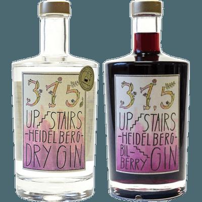 Heidelberger Heidelbeer Ginpaket - 2x Craft Gin (1x 315 Upstairs Heidelberg Dry Gin + 1x 315 Upstairs Heidelberg BilBerry Gin)