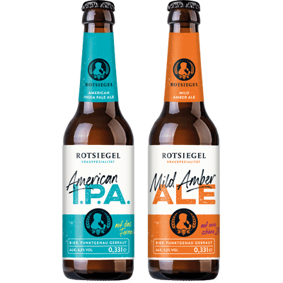 ROTSIEGEL Probierset (3x American India Pale Ale + 3x Mild Amber Ale)