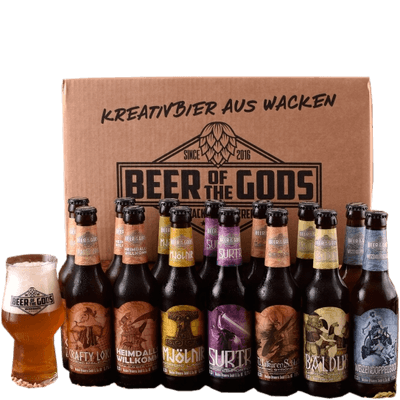 Göttergabe #1 - 16x Craft Beer von Beer of the Gods (Märzen + Strong Ale + Stout + Pale Ale + IPA + Bock + Helles)