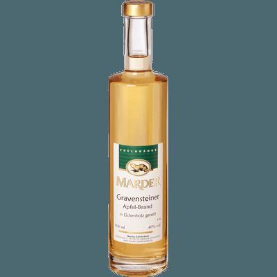 Marder Gravensteiner Apfelbrand - im Eichenholzfass gereift, 500ml