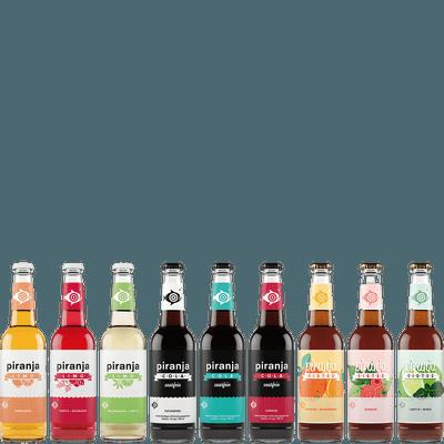 Piranja Schnupperkiste - 20x Limonaden und Eistee (9 verschiedene Sorten)