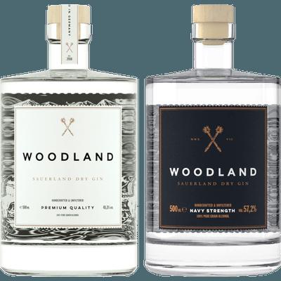 Sauerländer Ginpaket - 2x Craft Gin (1x Woodland Sauerland Dry Gin + 1x Woodland Sauerland Dry Gin Navy Strength)