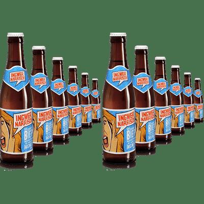 8 + 4 Flaschen gratis Ingwer Narrisch - Biermischgetränk aus Märzenbier und Bio-Ingwer-Sirup