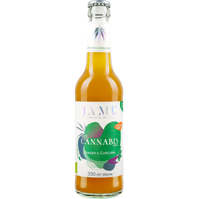 BIO CANNABIS DRINK mit Ingwer & Curcuma - JAMU Limonade