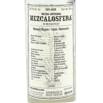Mezcalosfera Ensamble Mezcal Magueys 2018 Etikett