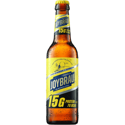 JoyBräu alkoholfrei - PROTEINBIER + ZITRONE (24x 0,33 l)
