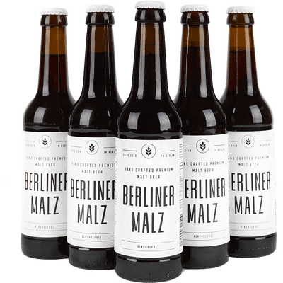 Berliner Malz - Bio Malzbier | Alkoholfrei Ökologisch Vegan | 24 x 330 ml Flasche
