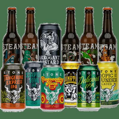 US-Brauereien Premium Paket (12 x 0,33 l verschiedene Craft Biere)