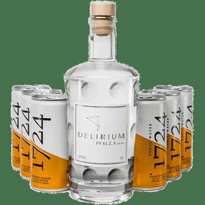 Delirium PFXLZ. II Gin & Tonic Set - 1x Dry Gin (0,5 l) + 6x 1724 Tonic Water (je 0,2 l)