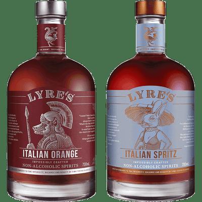 Lyre's Alkoholfreie Spirituosen Probierpaket - Bitters (Italian Orange + Italian Spritz)