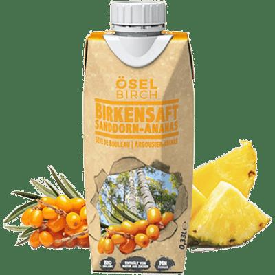 8x Bio-Birkensaft Sanddorn/Ananas