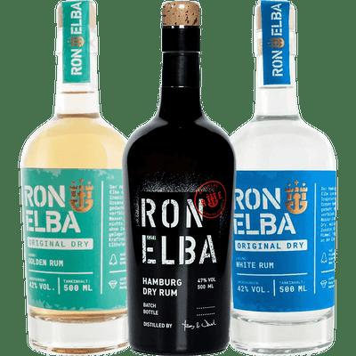 RON ELBA Set (Hamburg Dry Rum + Golden Rum + White Rum)