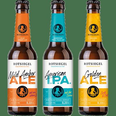 ROTSIEGEL Ale Probierset (2x American India Pale Ale + 2x Mild Amber Ale + 2x Golden Ale)