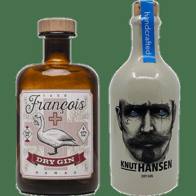 Gin Probierpaket - Das Doppelte H (1x Francois Hanau Dry Gin + 1x Knut Hansen Dry Gin)