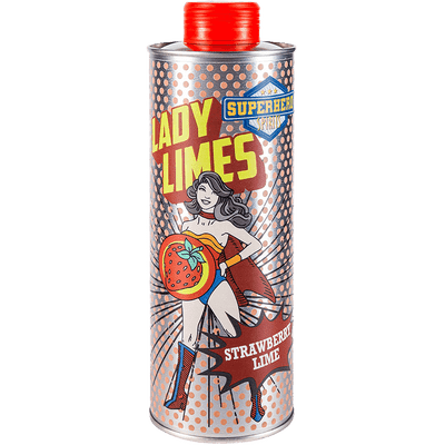 Lady Limes | Erdbeer Limes | Superhero Spirits | Flasche Front