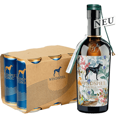 Windspiel Gin & Tonic Set - Alkoholfrei (1x Alkoholfreie Gin-Alternative + 6x Tonic Water)