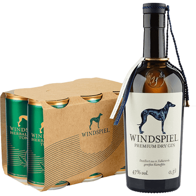 Windspiel Gin & Tonic Set - Herbal (1x Premium Dry Gin + 6x Herbal Hanf Tonic)