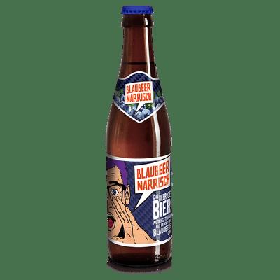 Blaubeer Narrisch - Biermischgetränk mit Blaubeer-Sirup