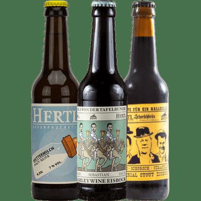 Hertl Craft Beer Set - Hazy New England IPA + Barley Wine Eisbock + Imperial Stout Eisbock