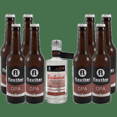Niederrheinisches Altherrengedeck OPA (1x Bierbrand + 8x OPA Pale Ale)