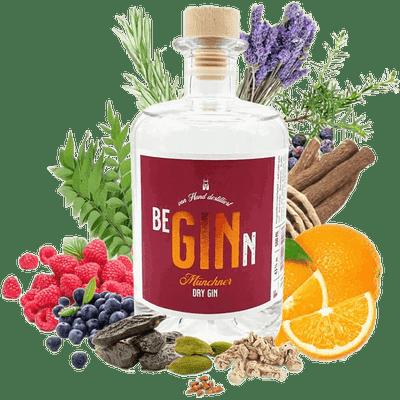 BeGINn - Munich Dry Gin mit Beeren 100ml