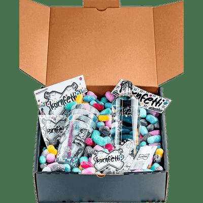 Kornfetti - Geschenkbox (1x Weizenkorn + 4x Becher + Überraschungen) 2