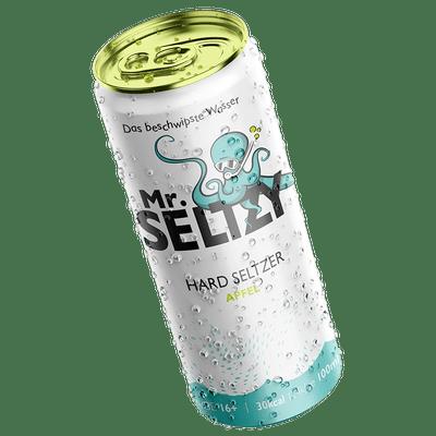 Mr. Seltzy - Das Beschwipste Wasser - Probierpaket ( je 4x Apfel, Mango & Limette-Minze) | Aromatisierter Apfelwein