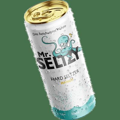 Mr. Seltzy - Das Beschwipste Wasser - Probierpaket ( je 4x Apfel, Mango & Limette-Minze)   Aromatisierter Apfelwein