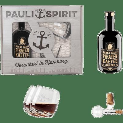 Geschenkset Piratenkaffee mit 2 Tumblern und Ausgießer