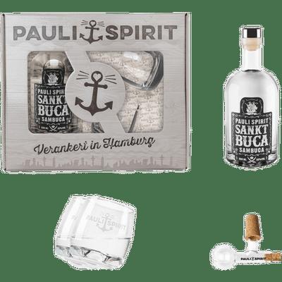 Geschenkset Sankt Buca mit 2 Tumblern und Glaskugel-Ausgießer