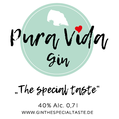 "Pura Vida Gin ""The special taste"" 40%"