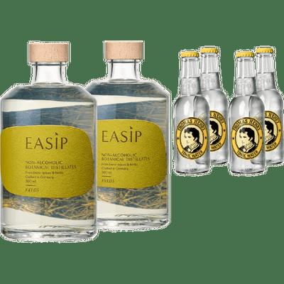 EASIP FIELDS & Tonic Bundle (2x Alkoholfreie Gin-Alternative + 4x Thomas Henry Tonic Water)