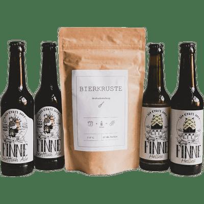 Bier & Brot im Geschenkset (4x Bio Craft Beer + 1x Brotbackmischung)