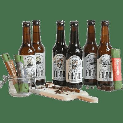 Bier & Schoko Tasting im Geschenkset (6x Bio Craft Beer + 3x Schokoriegel)