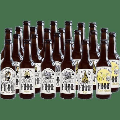 Finne Bio Craft Beer 24er Mix (6x Helles + 6x Pils + 6x IPA + 3x Scottish Ale + 3x Natur Radler)
