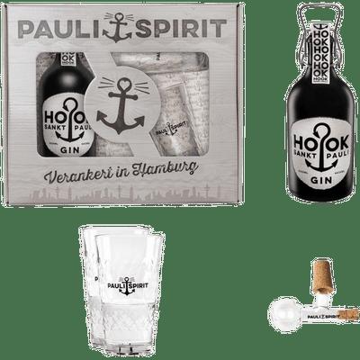 Geschenkset HOOK Gin mit 2 Gläsern & Ausgießer