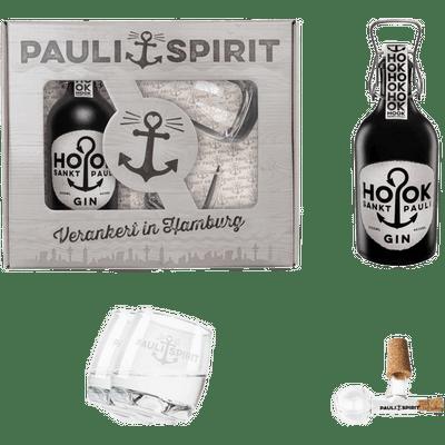 Geschenkset HOOK Gin mit 2 Tumblern & Ausgießer