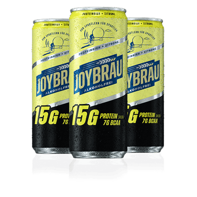 JoyBräu alkoholfrei - PROTEINBIER ZITRONE in der Dose (12x0,33l)