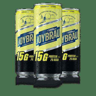 JoyBräu alkoholfrei PROTEINBIER ZITRONE in der Dose (24x0,33l)