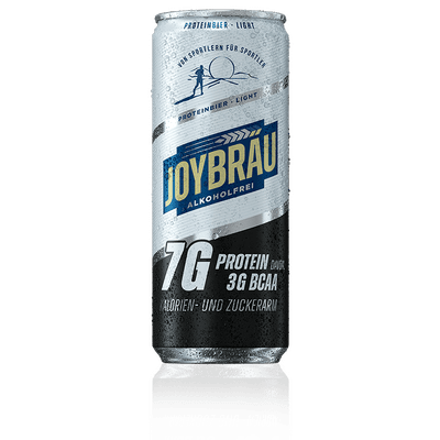 JoyBräu alkoholfrei PROTEINBIER LIGHT in der Dose (24x0,33l) 2