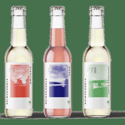 Bio-Weinschorle 12er Mix - 4x REINSCHORLE Riesling + 4x REINSCHORLE Rosé + 4x REINSCHORLE Sauvignon Blanc